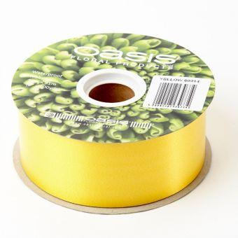 Poly Ribbon - Yellow - 5cm x 91m