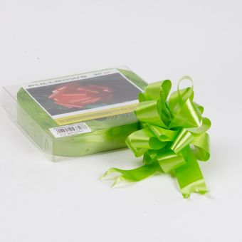 Pull Bow - Lime - 3cm, 18 loop bow (Pack of 30)