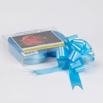 Pull Bow - Light Blue - 3cm, 18 loop bow (Pack of 30)