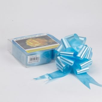 Pull Bow - Light Blue - 5cm, 18 loop bow (Pack of 20)