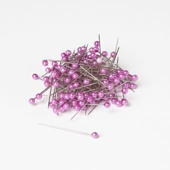 Round Headed Pearl Pins - Lavender - 40mm x 4mm (Pack of 144)
