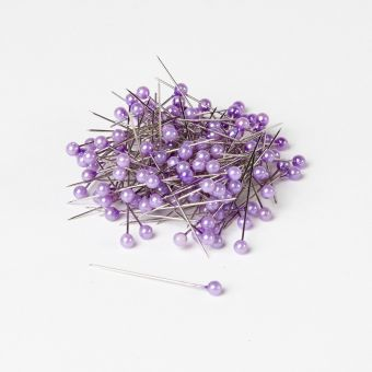 Round Headed Pearl Pins - Lilac - 40mm x 4mm (Pack of 144)