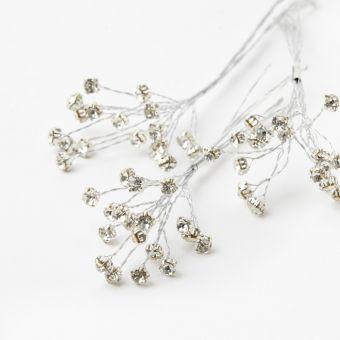 Diamante Spray - Clear on Silver - 5mm