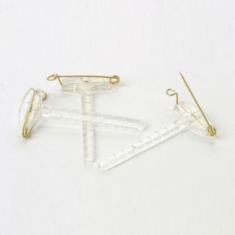 Corsage Clips - Clear (Pack of 50)