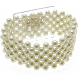 Small Pearl Flower Bracelet - Ivory