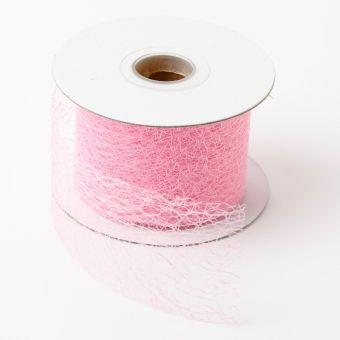 Silk Mesh Ribbon - Pale Pink - 5cm x 20m