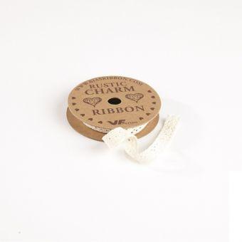 Cotton Lace Ribbon  - Natural Cream - 11mm x 3m