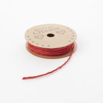 Jute Rope - Red 2mm x 10m