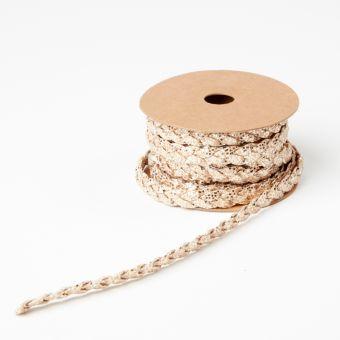 Glitter Braid - Rose Gold - 10mm x 5m