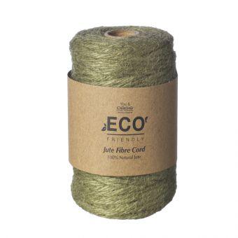 Jute Fibre Cord (50m) - Olive Green