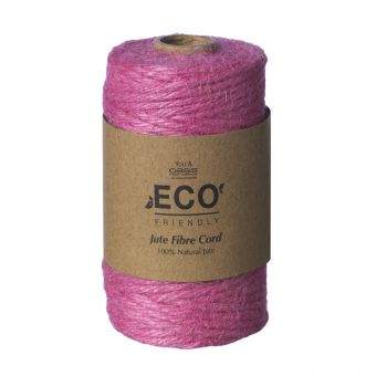 Jute Fibre Cord (50m) - Pink