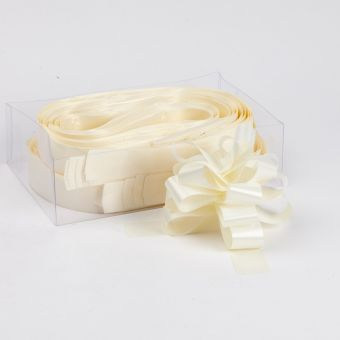 Pull Bow - Cream - 3cm, 18 loop bow (Pack of 30)