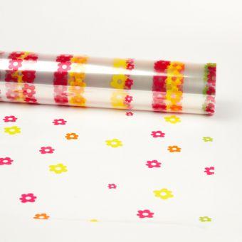 Printed Film Roll Daisy - Multicoloured - 38 micron - 80cm x 100m