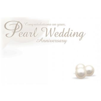 Pearl Wedding Card (Pack of 50)