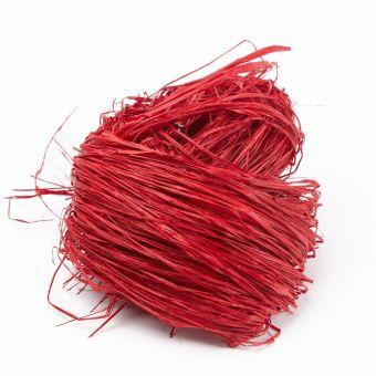 Long Raffia - Red - 250g