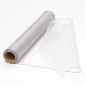 Organza Fabric  - Silver - 40cm x 9m