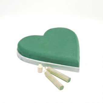 OASIS® Ideal Floral Foam Maxlife Solid Heart with Ecobase  - 30cm (Pack of 2)