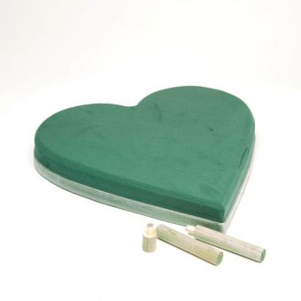 OASIS® Ideal Floral Foam Maxlife Solid Heart with Ecobase - 40cm (Pack of 2)