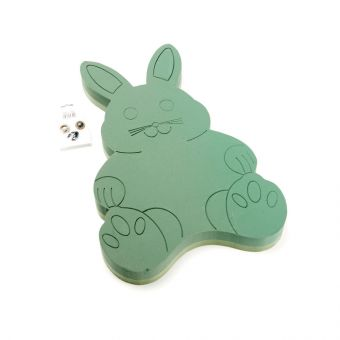 OASIS® Ideal Floral Foam Maxlife FOAM FRAMES® Bunny Rabbit with eyes and nose