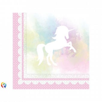 Believe in Unicorns Collection Paper Napkins - 33cm (Pack of 20)