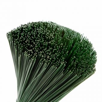 Stub Wire - Green Lacquered - 30cm x 0.38mm (1kg Pack)
