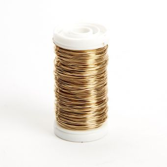 Metallic Wire - Gold  - 0.50mm x 100g - approx 50m