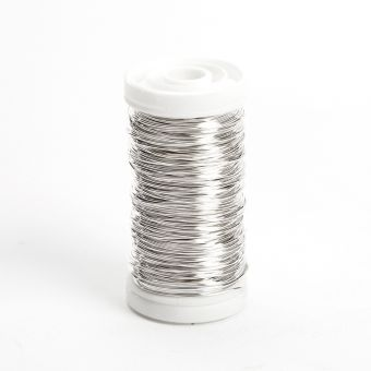 Metallic Wire - Silver  - 0.50mm x 100g - approx 50m