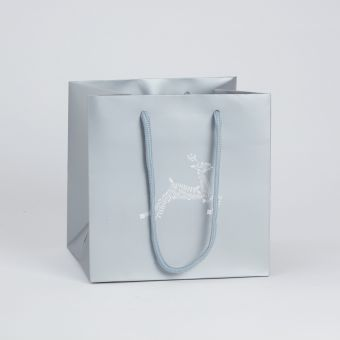 Porto Bag - Reindeer - Silver/Grey - 18x20cm (Pack of 10)