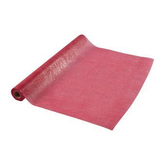 Sparkle Non-Woven Wrap - Burgundy - 10m