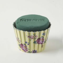 OASIS® Ideal Floral Foam Maxlife Cupcakes - Ivory Floral - 8cm (Pack of 6)