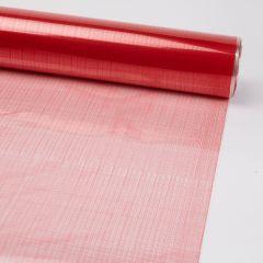 Printed Film Roll Hessian - Red - 38 micron - 80cm x 100m