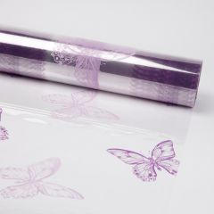 Printed Film Roll Butterflies - Two Tone Purple - 38 micron - 80cm x 100m