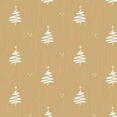 Kraft Paper Squiggle Tree White