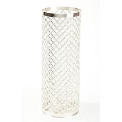 Silver & Crystal Column - 87cmx24cm