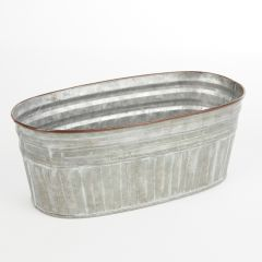 Mia Tin Lined Lined Trough - 24cm