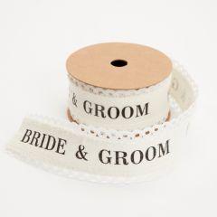 Lace Ribbon Bride & Groom